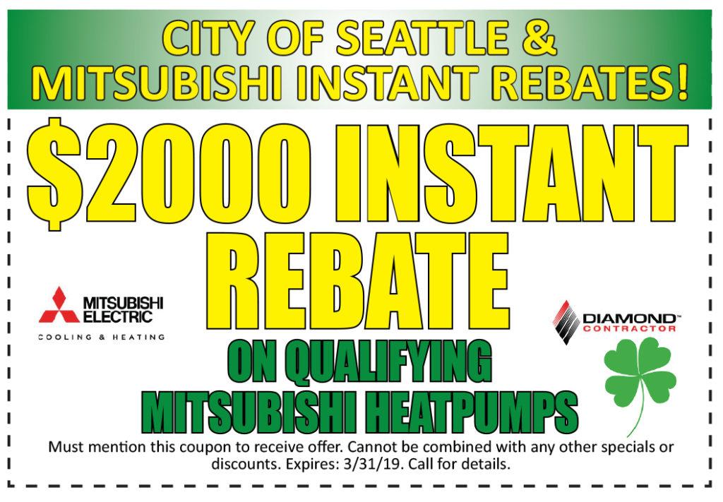 $2000 Rebate on Heatpumps in Seattle