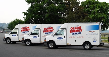 HVAC Service Trucks | Olson Energy Service