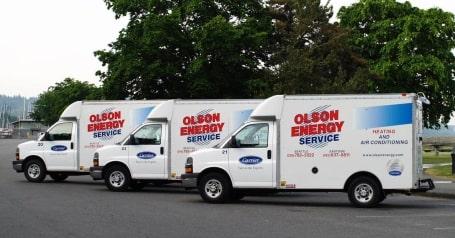 The vehicle fleet of Olson Energy Service